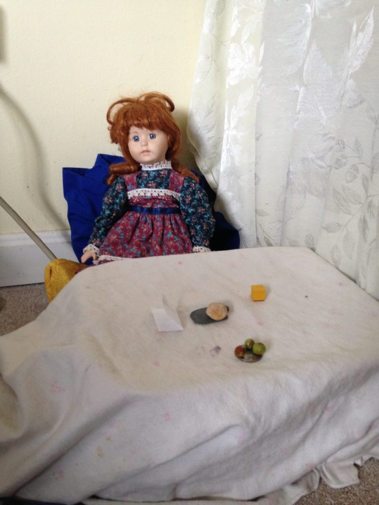 Bella's been making doll food for Emily.