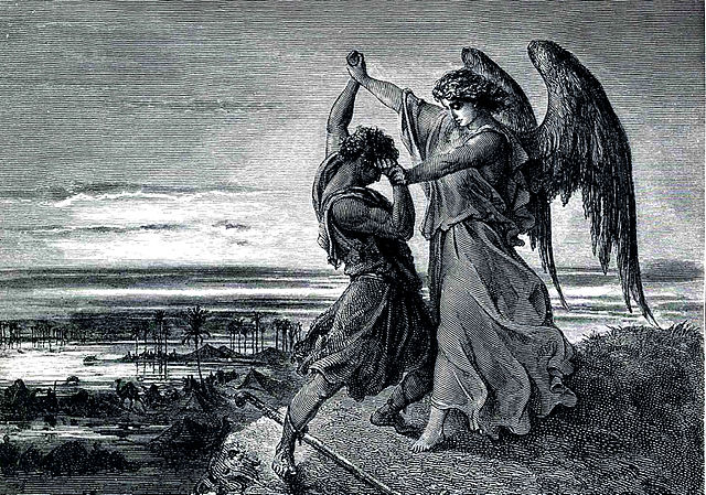 Jacob Wrestling with the Angel, Gustave Doré (1855)