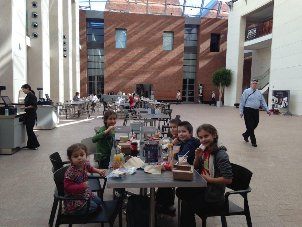Lunch in the atrium.