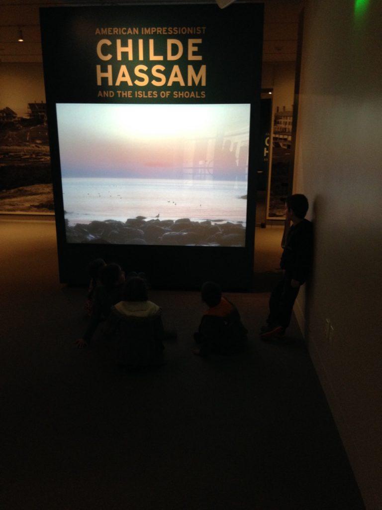 Childe Hassam exhibit opening.