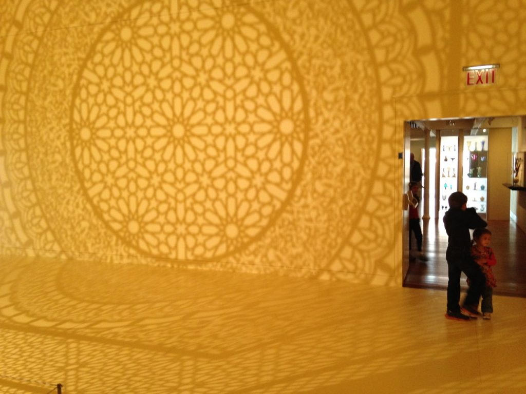 Intersections by Anila Quayyum Agha, a Pakistani-American artist