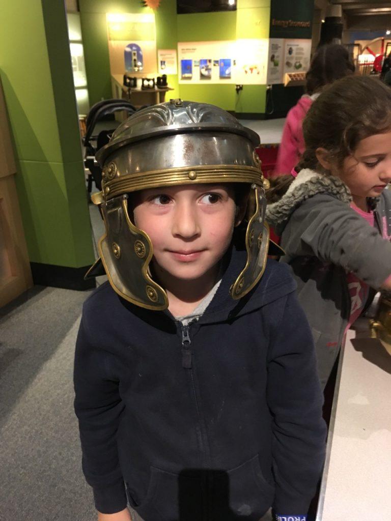 Roman helmets.
