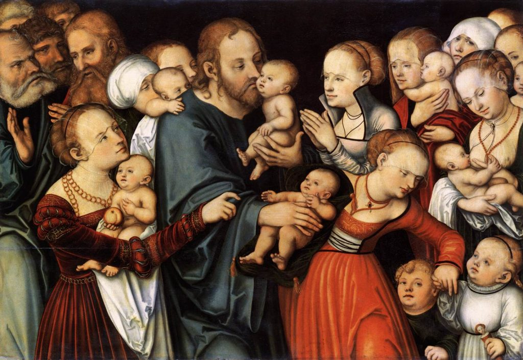Christ Blessing the Children by Lucas Cranach the Elder ], via Wikimedia Commons