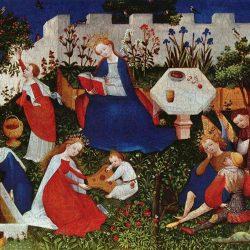 Hortus conclusus depicted by Meister des Frankfurter Paradiesgärtleins
